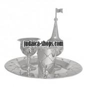 Silver Havdalah Set  - Flowers