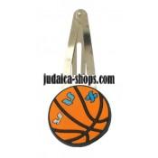 Alef Bet Basketball clips kippah