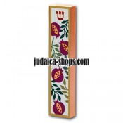 Wood Mezuzah - pomegranate