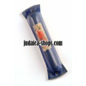 Ceramic Mezuzah - blue.