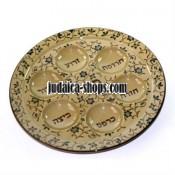 Round ceramic. Seder plate – floral design