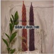 Long Woven Havdalah Candle – red/purple