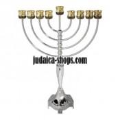 Silver Menorah (Hanukiah) - Round shape