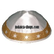 Magen David' Kippah – Gold trim