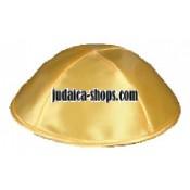 Satin Kippah – Gold