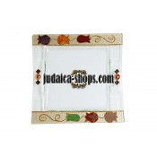 Glass Matzah Tray – Pomegranates design