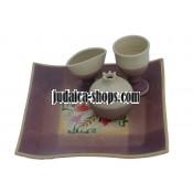 Ceramic Havdalah Set - Purple