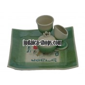 Ceramic Havdalah Set - Green