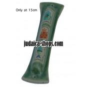 Ceramic Mezuzah - Green