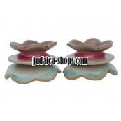 Ceramic CandleStick - Flowers - Pink