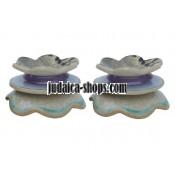 Ceramic CandleStick - Flowers - Purple