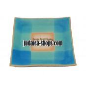 Ceramic Matzah Tray – Bright Blue