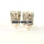 Silver-Plated Candleholders - Neronim - Flowers