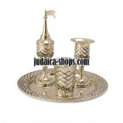 Silver-Plated Havdalah Set  - Diamonds
