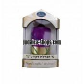 Free-standing Havdalah Candle – Gold & purple
