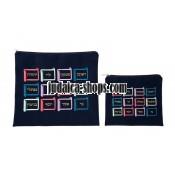 Tallit Bag & Tefillin Bag - 12 Tribes- Blue