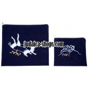 Tallit Bag & Tefillin Bag - Application - Blue / White