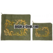 Tallit Bag & Tefillin Bag - Shibolim - Green