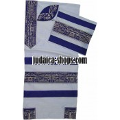 Rikmat Elimelech - Embroidered Wild Silk Tallit – 'City of David'
