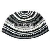 Frik Kippah Black and White Stripes