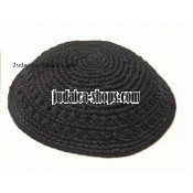 Thick Knitted Kippah – Black