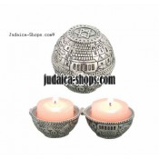 "Round ""Jerusalem"" Travel Candlesticks"