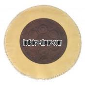 Round Leather Matzah Cover – Jerusalem Wave