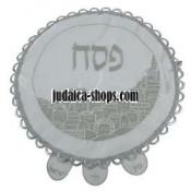 Matzah Cover - Silver Wave