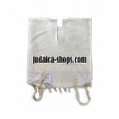 Wool Tallit Katan White Stripes