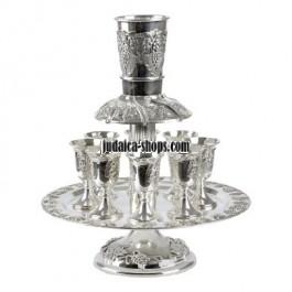 Silver Wine Fountain - Grapes