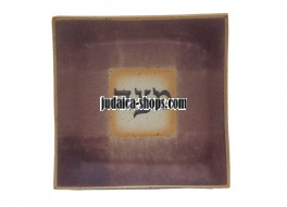 Ceramic Matzah Tray – Purple