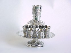 Silver-Plated Wine Fountain - Grapes