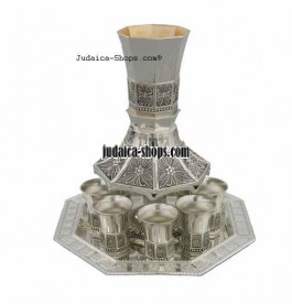 Streams' Wine Distributor. including Tray. Kiddush Cup and