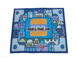 Silk Matzah Cover - Jerusalem