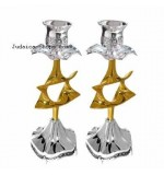 Candlesticks Star Silver & Gold
