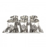 Silver Liquor set  - Hamsa