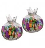 Pomegranate' Glass Candle Holders – Jerusalem Design