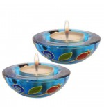 Pomegranate' Half-Ball Candle Holders