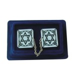 "Nickel ""Magen David"" Tallit Clips"