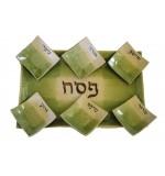 Ceramic Seder Plate - Green
