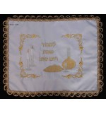 "Traditional White Challah Cover – ""Challah & Wine"""