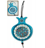 Pomegranate wall hanging ornament - turquoise