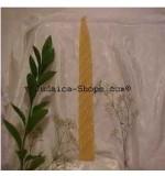 Long Woven Havdalah Candle - Natural