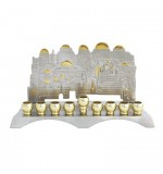 Nickel Menorah (Hanukiah) - Jerusalem