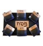 Ceramic Seder Plate - Blue