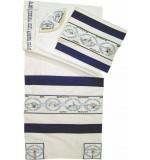 Rikmat Elimelech - Embroidered Wild Silk Tallit – 'Im Eshkach'