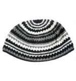 Frik Kippah Black and White Stripes