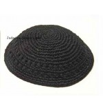 Thick Knitted Kippah – Black