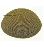 Thick Knitted Kippah – Olive Green