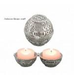 "Round ""Jerusalem"" Travel Candlesticks"